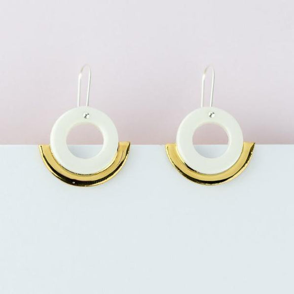 Arc Earrings - White Gold