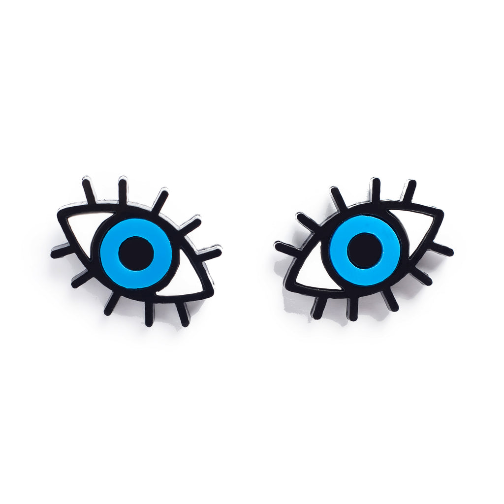 Earrings Eye Layered Studs