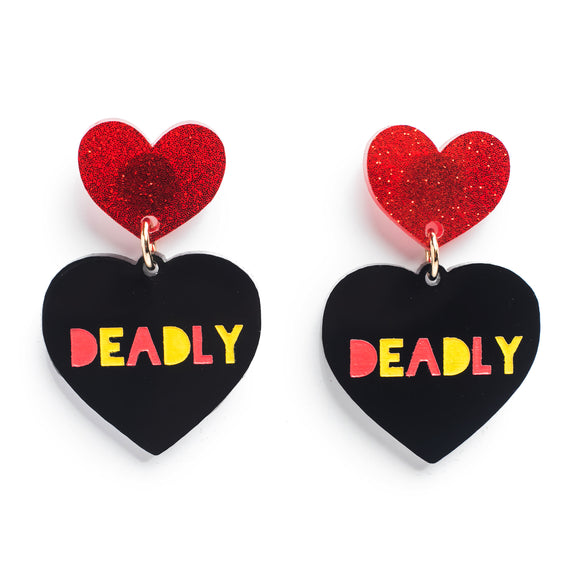 Earrings Deadly Heart