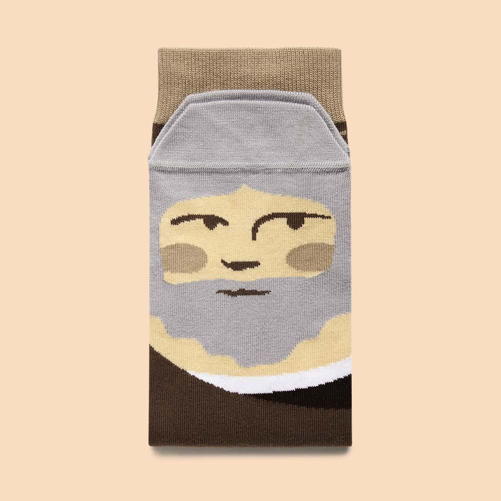 Socks Featuring an illustrated face of Leonardo Da Vinci
