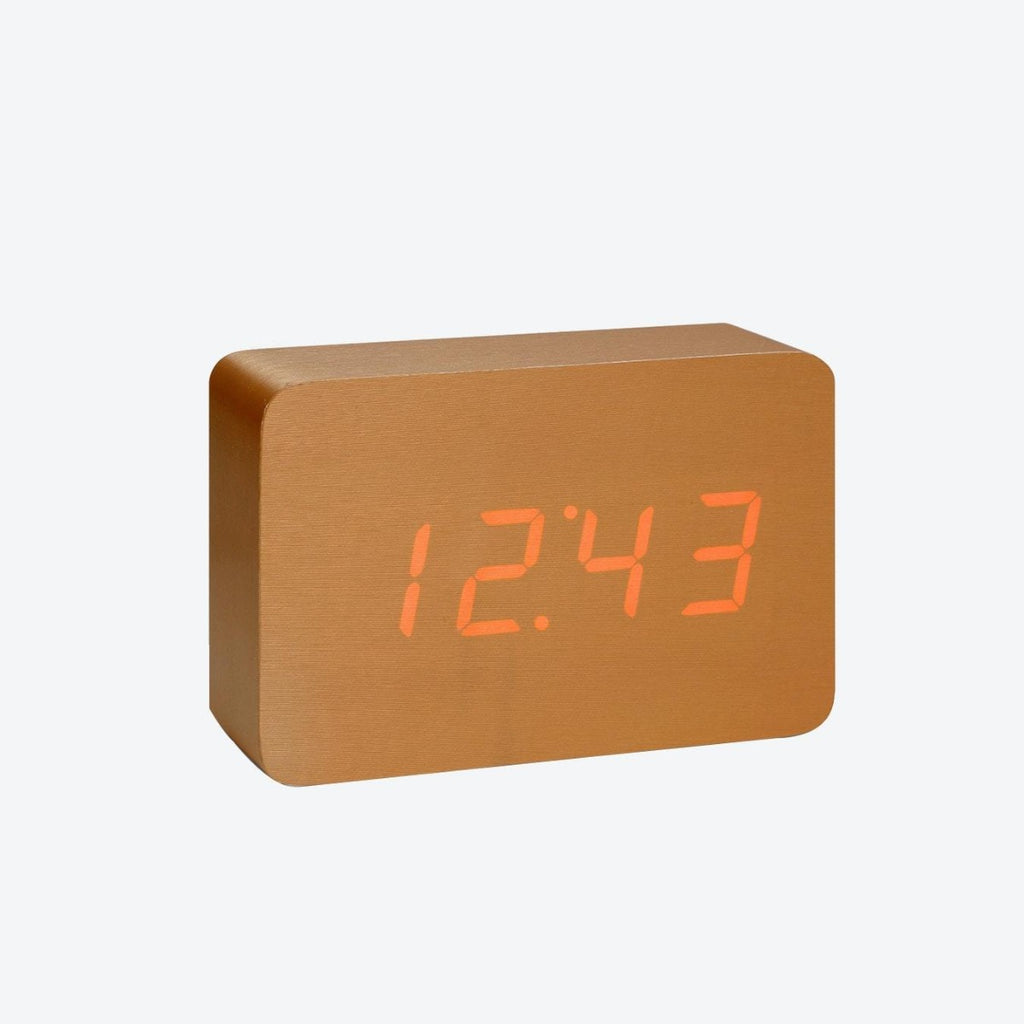 Clock | Gingko Brick | LED | Assorted Colours