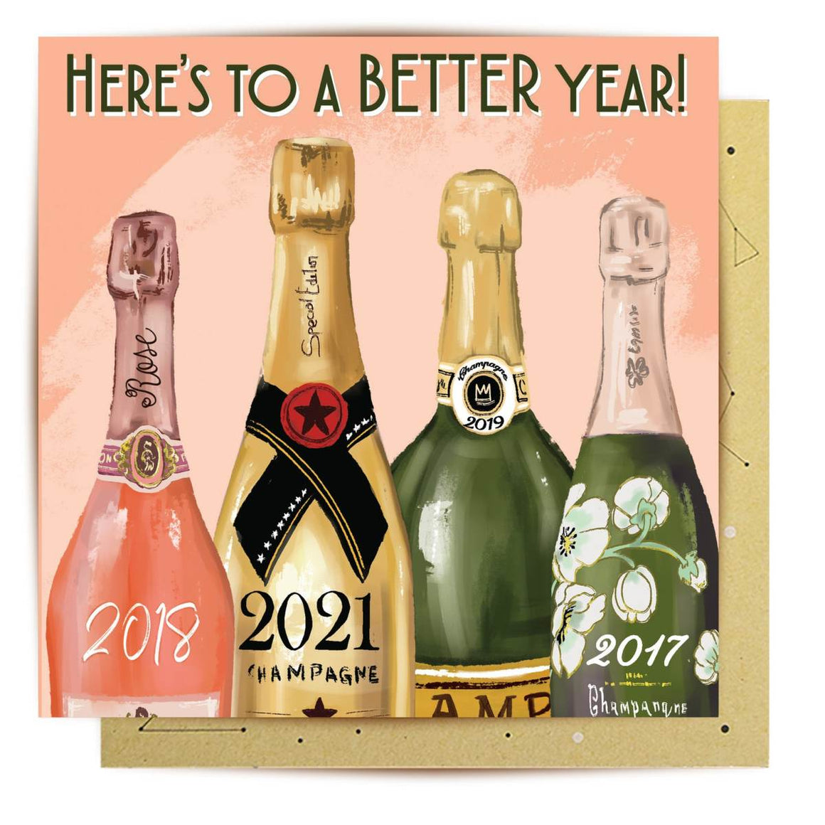 Greeting Card | Heres to a Better Year | All Occasions
