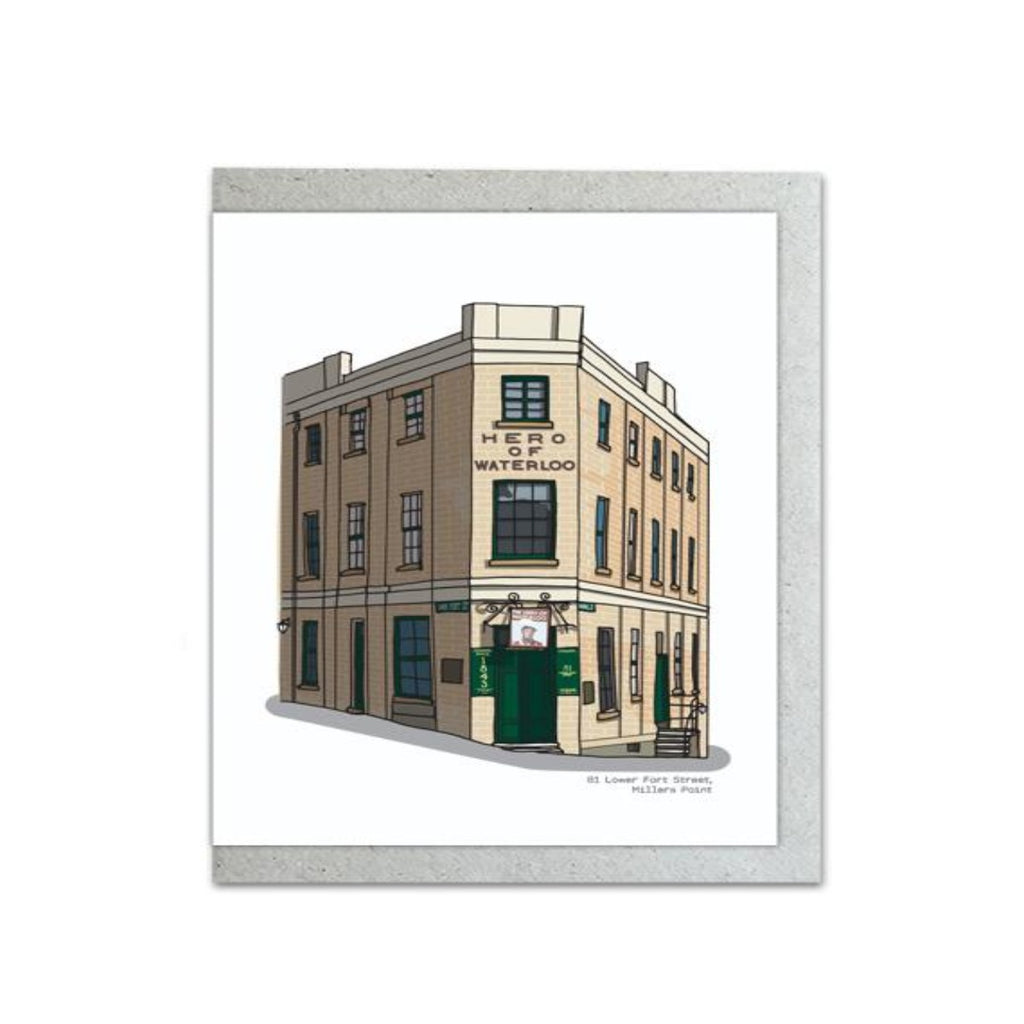 Full Colour featuring a detailed view of 81 Lower Fort Street, The Rocks illustration by Jacqui Duncan