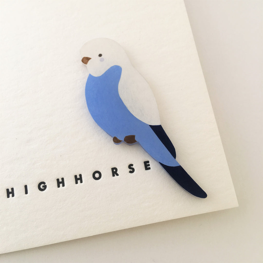 Brooch Budgie Sky Blue