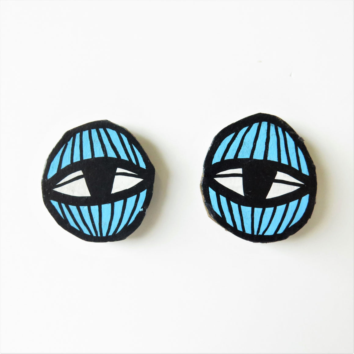 Earrings Blue Eye Studs