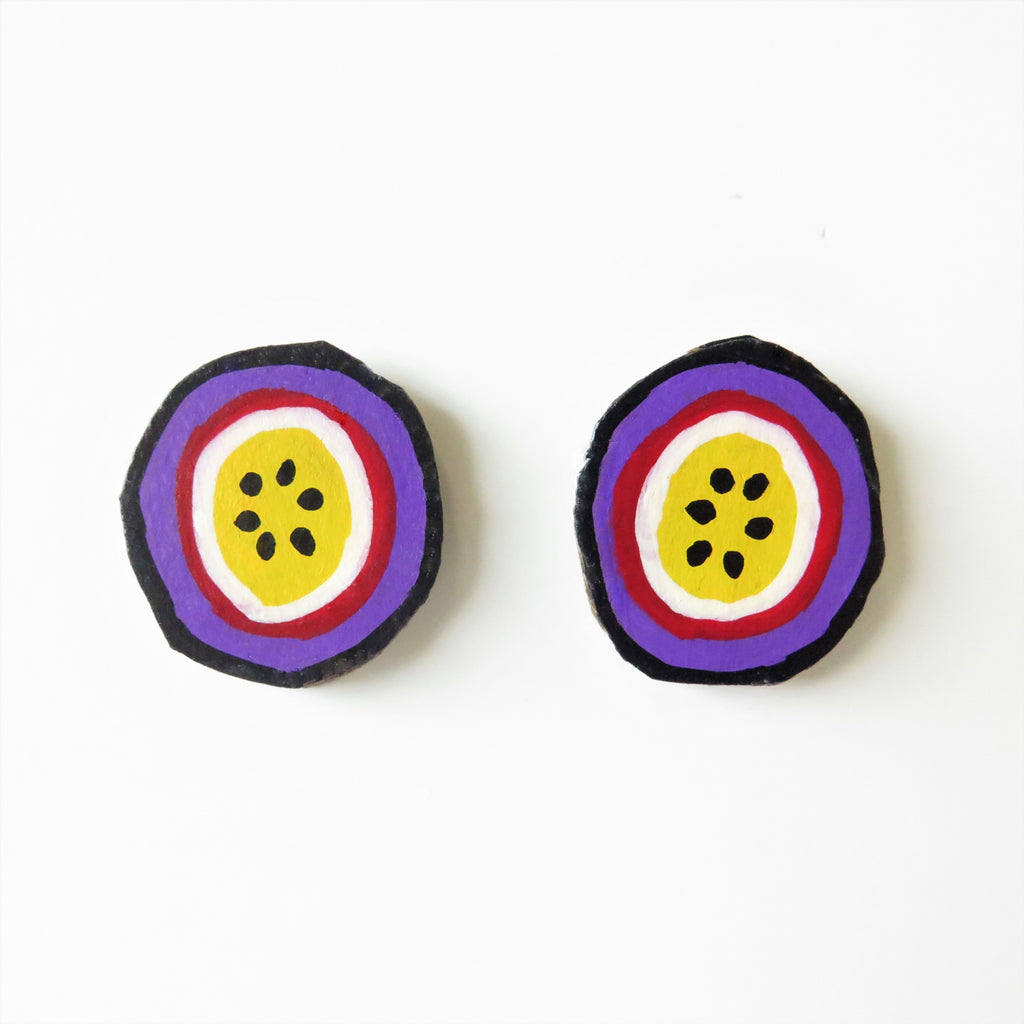 Earrings Passionfruit Studs