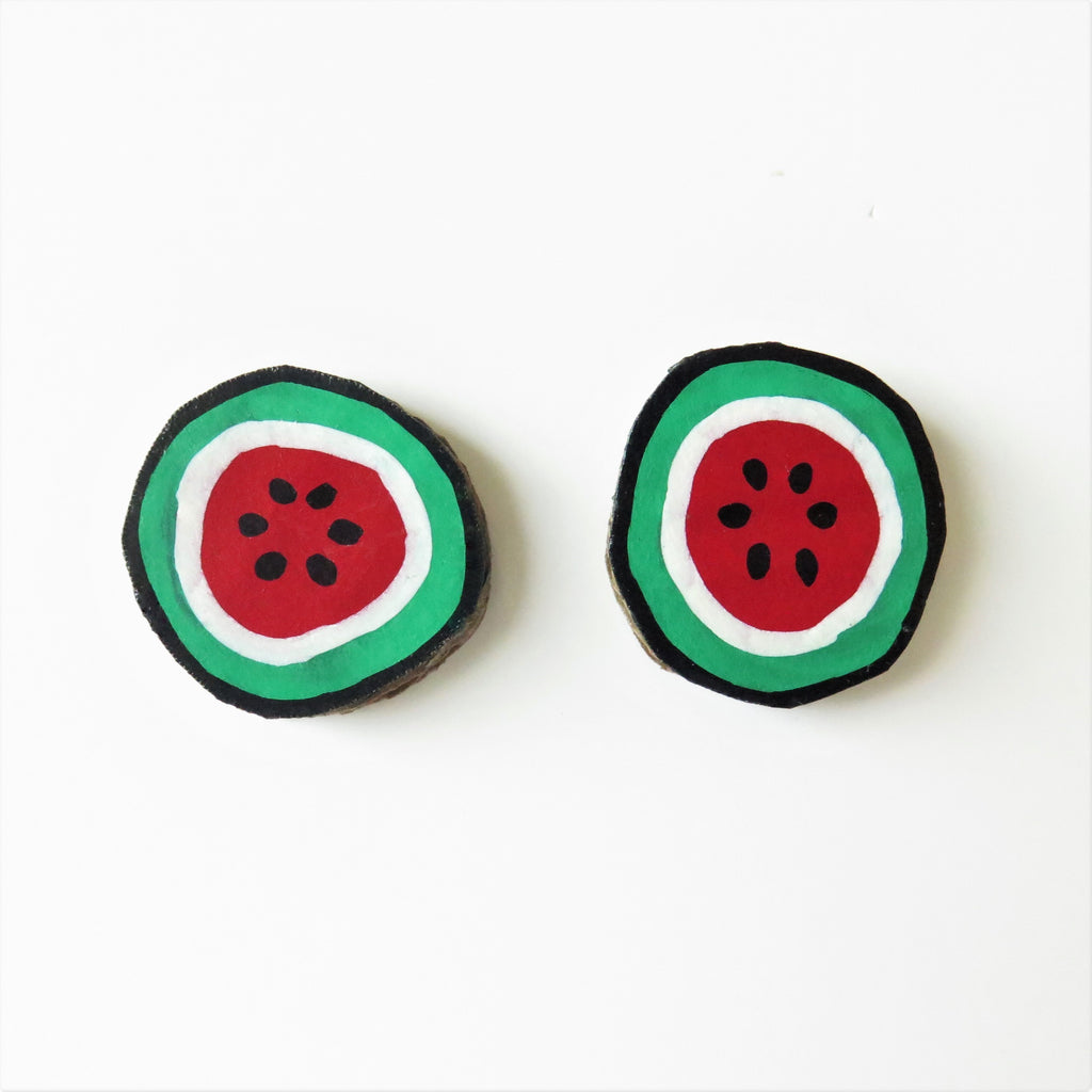 Earrings Watermelon Studs