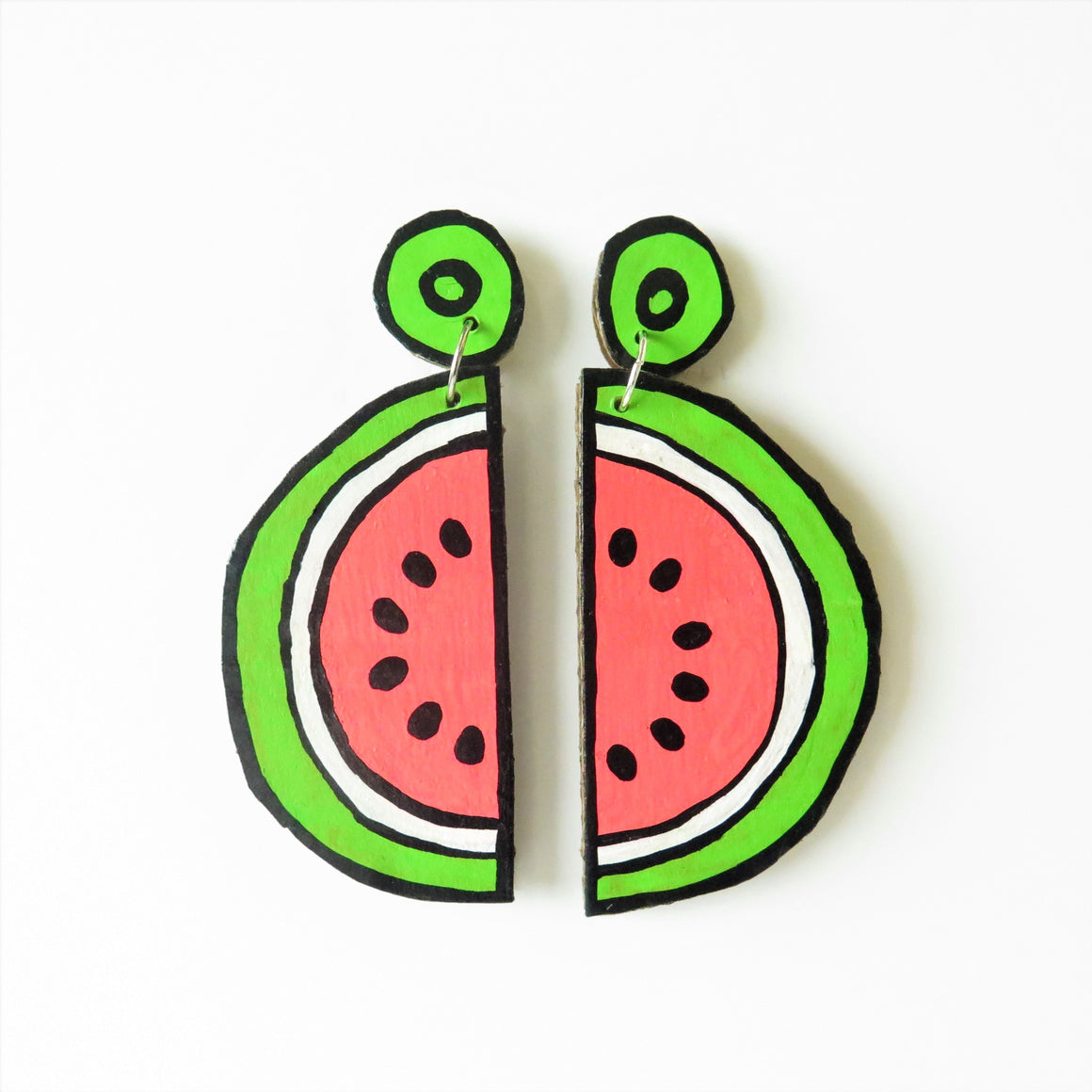 Earrings Watermelon Cardboard