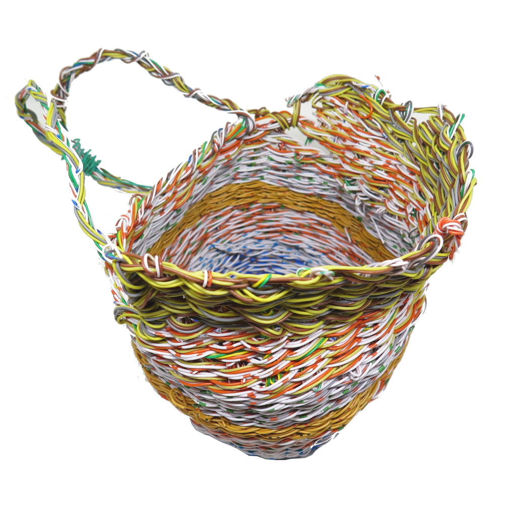 Woven Mindi Nest Basket by Emily Murray | Girringun Aboriginal Art Centre