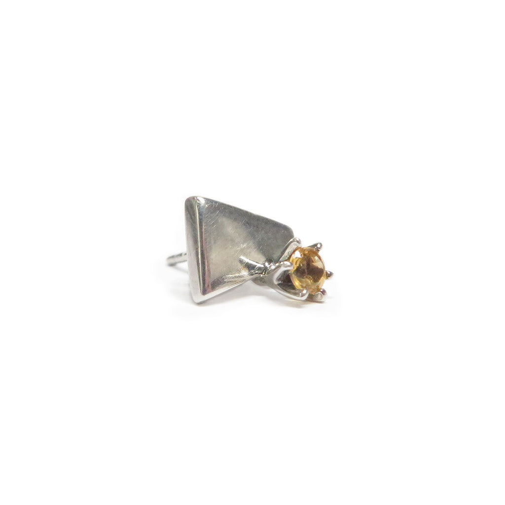 Earring | Stud | Sterling Silver | Yellow Citrine
