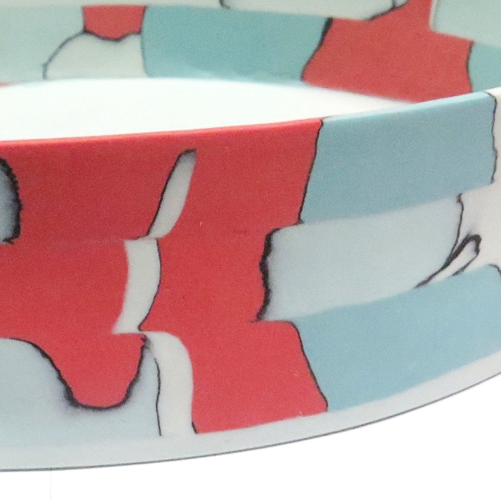 Fruit bowl | Nerikomi | Made by Anne Mossman | red, pink, blue and pastel blue