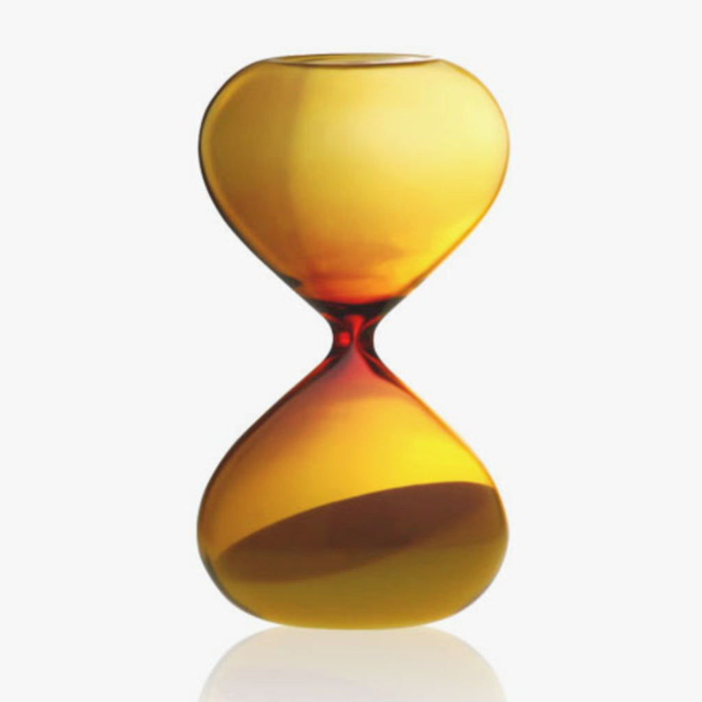 Image featuring an amber orange hourglass