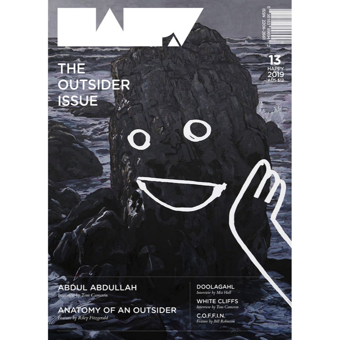 Magazine Cover featuring Issue 13 Happy Magazine: The Outsider Issue