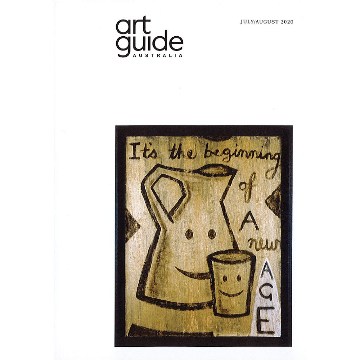 The cover of the July/August Issue 126 of Art Guide Australia.