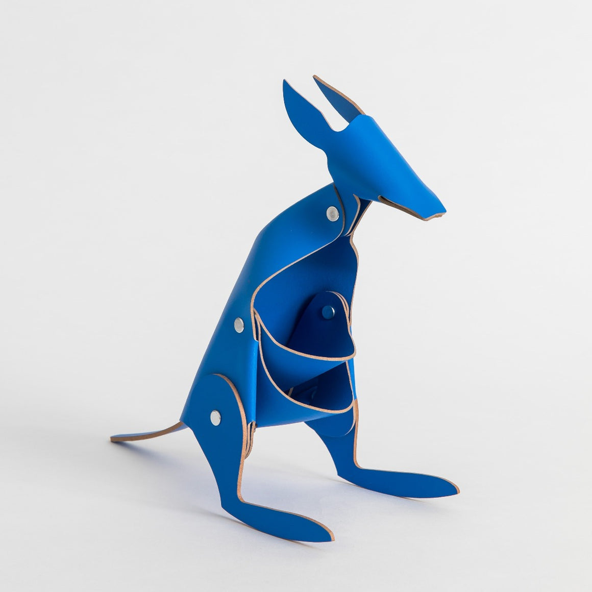 Leather Desk Kangaroo in the colour blue