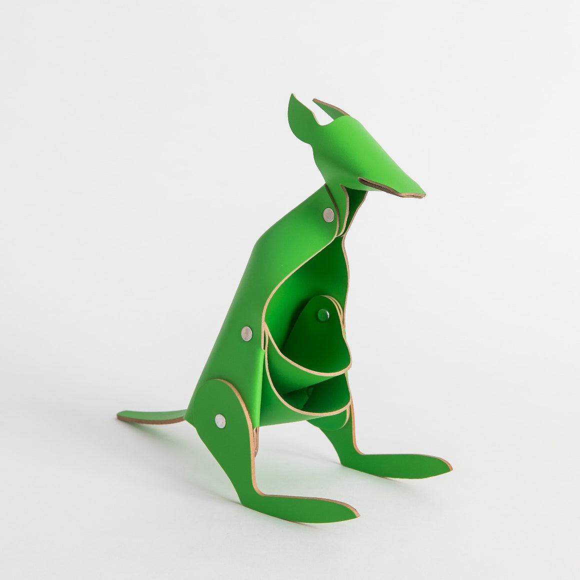 Leather Desk Kangaroo in the colour green