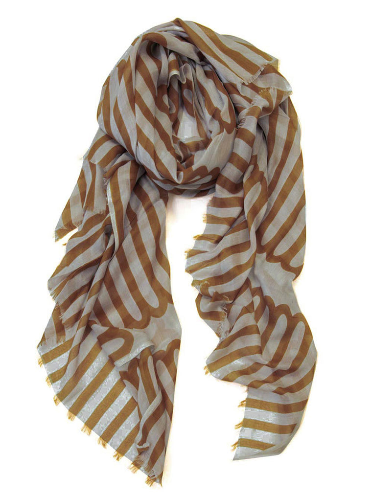Scarf Long Loop Caramel/Natural