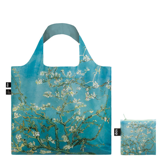 A Blue Shopping Bag featuring a Van Gogh Painting of Almond Blossom