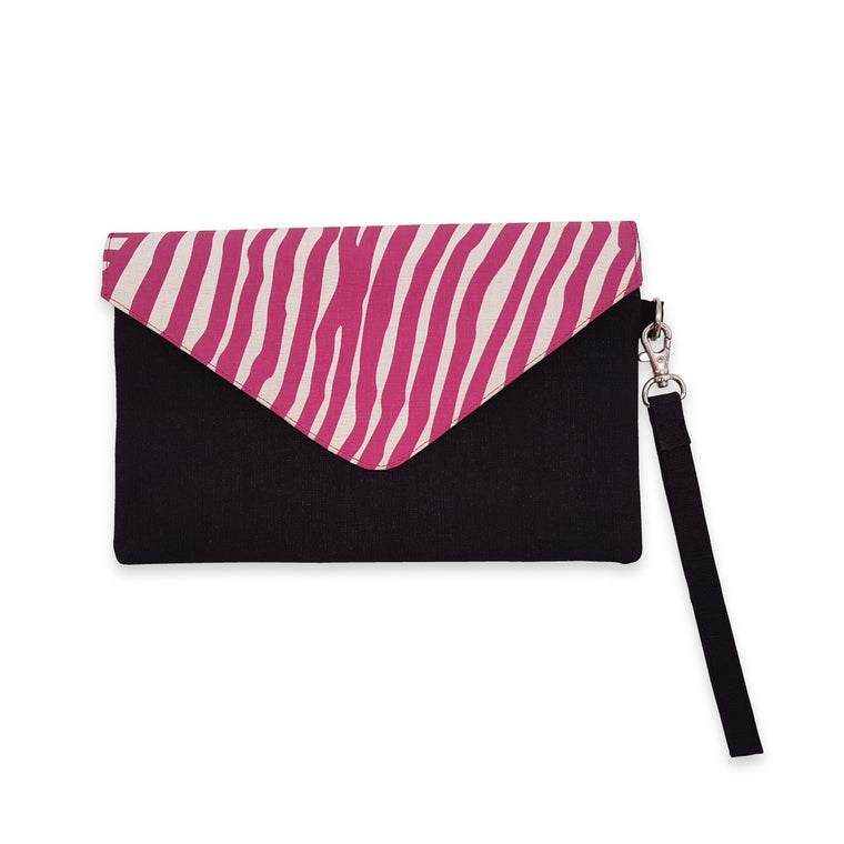 Envelope clutch bag | Ikuntji Artists | Kuruyulty by Eunice Napanangka Jack | pink gradient