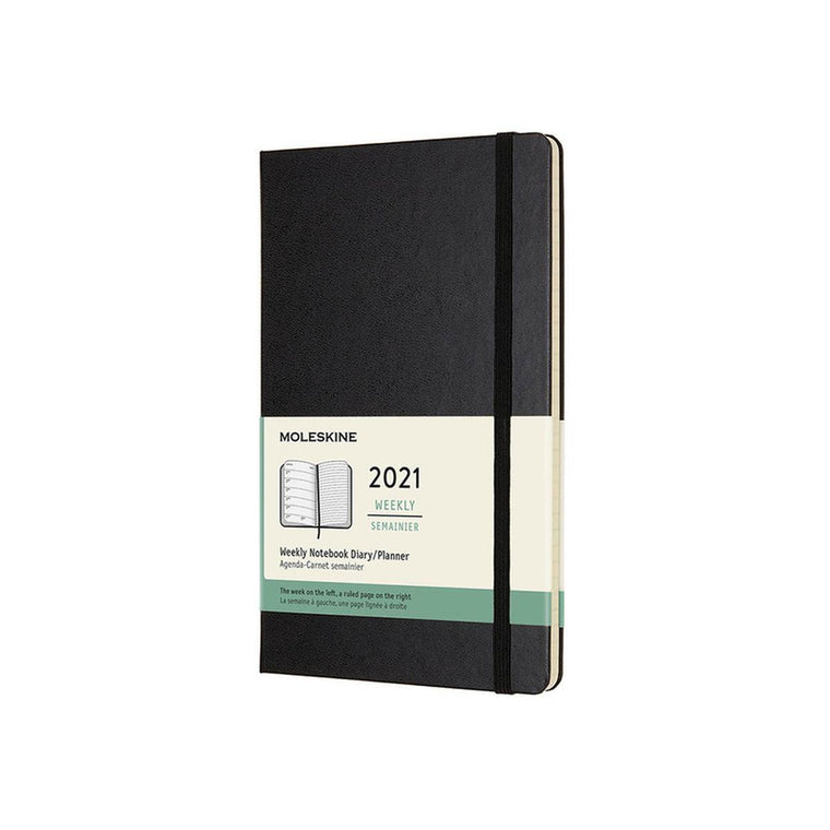 2021 Diary | Moleskine Hard Cover | Weekly Notebook | Large | Black