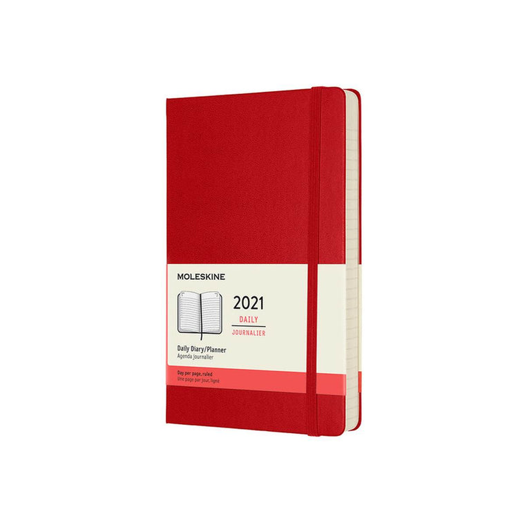 2021 Diary | Moleskine Hard Cover | Daily | Large | Red