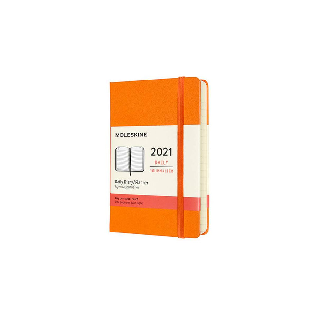 2021 Diary | Moleskine Hard Cover | Daily | Pocket | Orange