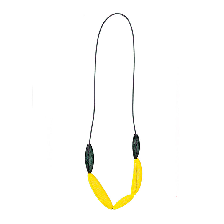 Mesh Necklace Loop Yellow