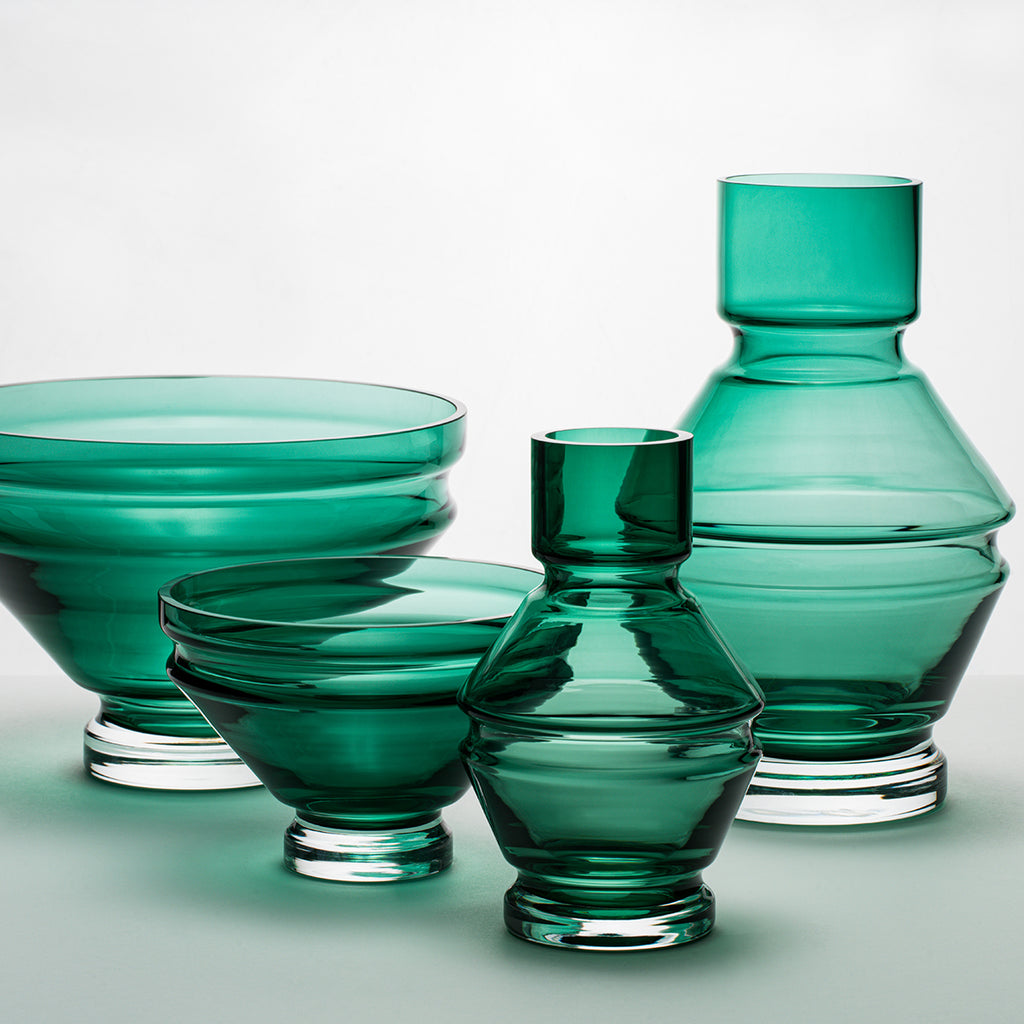 Vase | glass | Raawii Relæ | small | bristol green