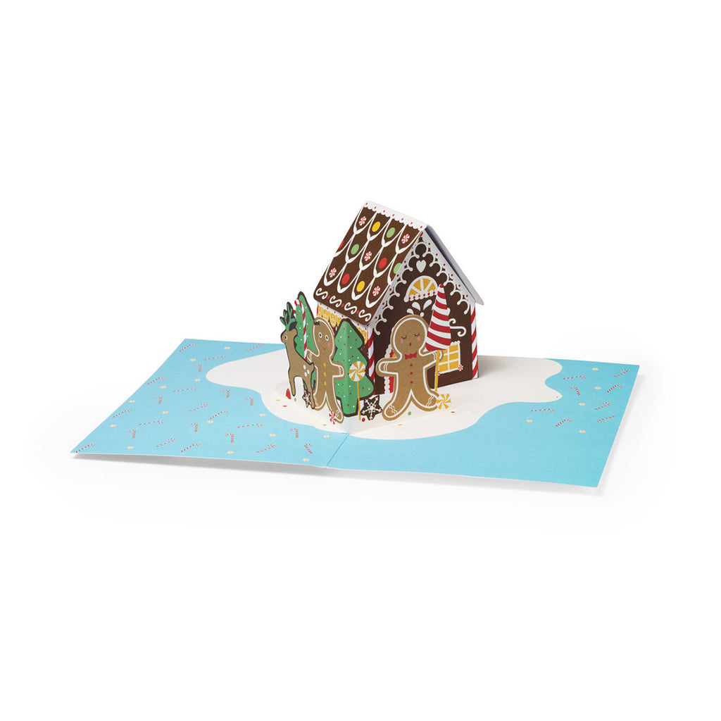 Greeting Card | Pop up | Gingerbread house | Pack of 8 | Christmas