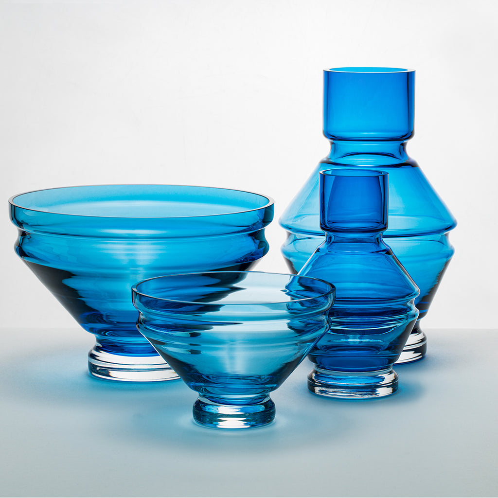 Vase | glass | Raawii Relæ | small | aquamarine blue