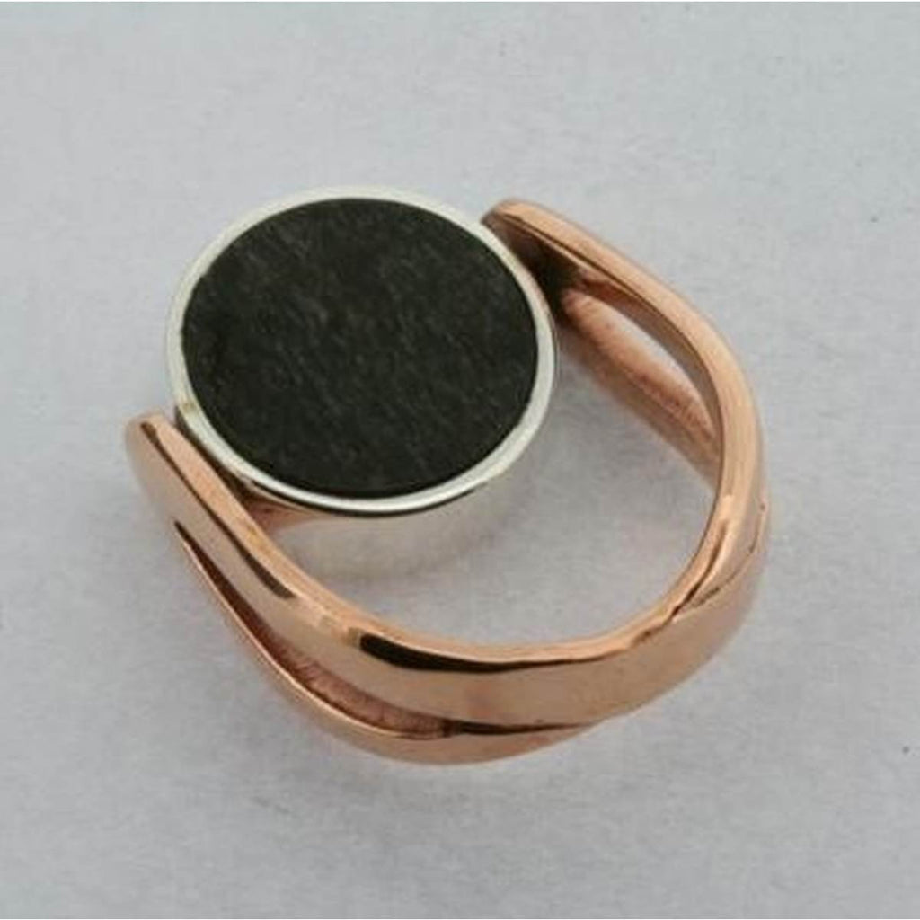 Ring | Sterling Silver & Black Obsidian & Copper | Flip