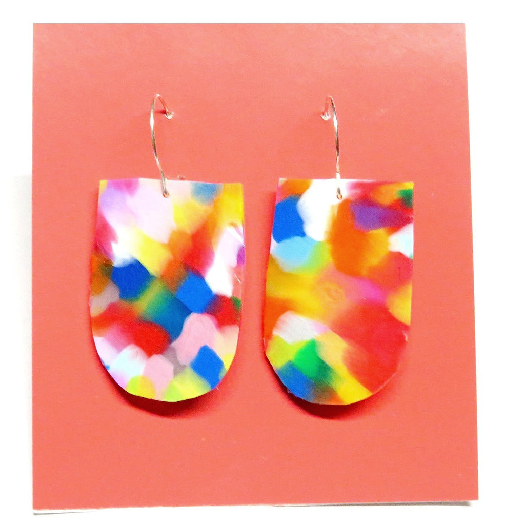 Earrings | Recycled domestic plastic | large #2 | Made by Melinda Young