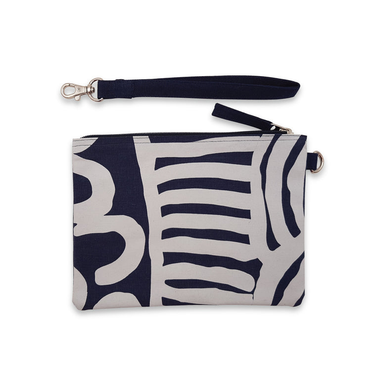Clutch bag | Ikuntji Artists | Women's Business by Mavis Marks | deep blue