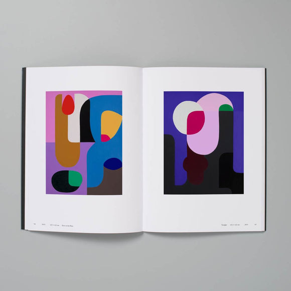 A black book cover featuring cover art by Stephen Ormandy. The image is a composition of various abstract shapes in bold colours. The text is imposed in white and features a very unusual font created by the Artit.