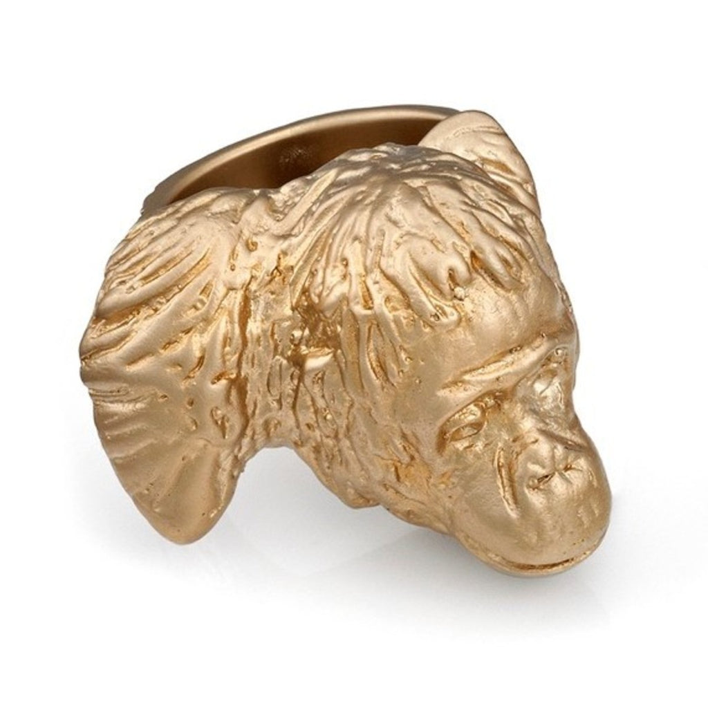 Ring | Orangutan Pope by Lisa Roet | Sterling Silver & 24ct Matte Gold | Size P