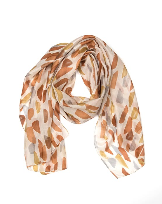 Scarf - Pebble Dew/Stone/Peach