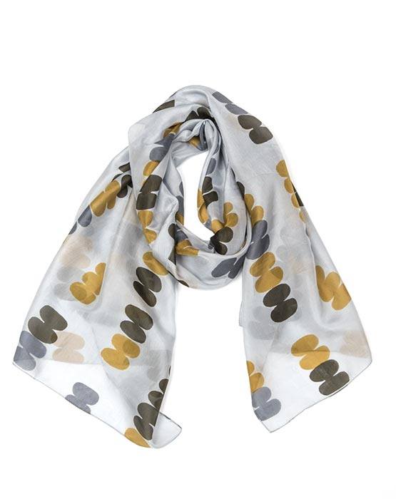 Scarf - Pebble Grey/Mustard/Olive