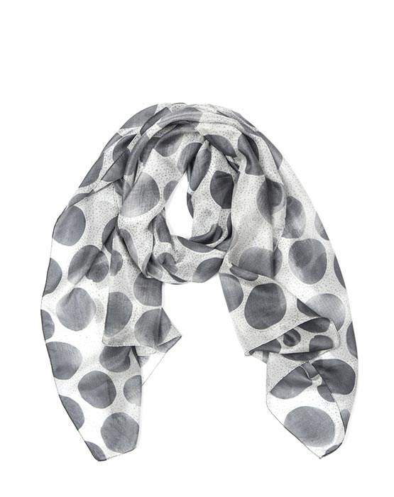 Scarf - Pond Spot Ice/Dark Grey