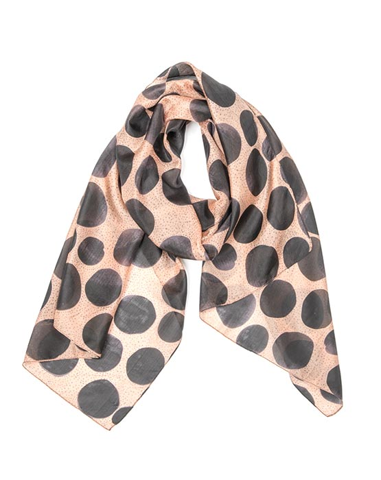 Scarf - Pond Spot Rose/Black