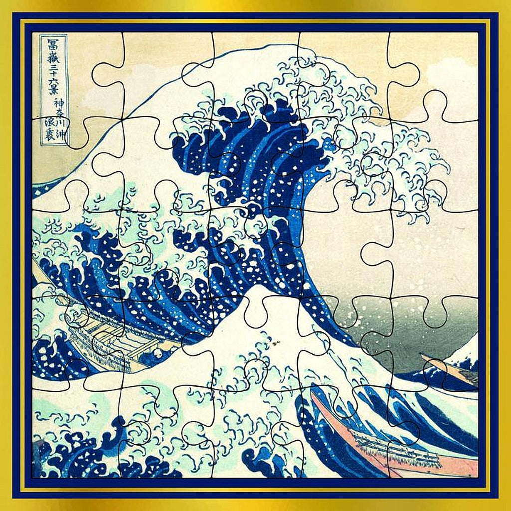 Greeting card | puzzle | Hokusai The Great Wave