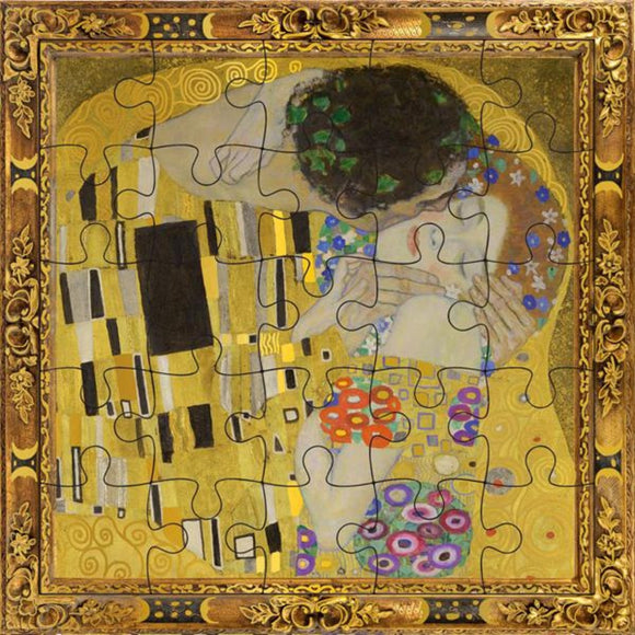 Greeting Card | Puzzle | The Kiss by Gustav Klimt