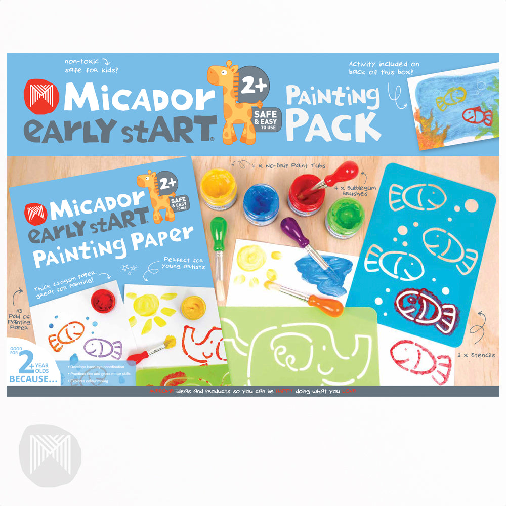 Painting Paper Activity Pack for Children | Early Start