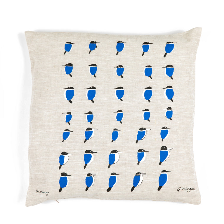 Cushion Cover - Kingfisher by Ethel Murray