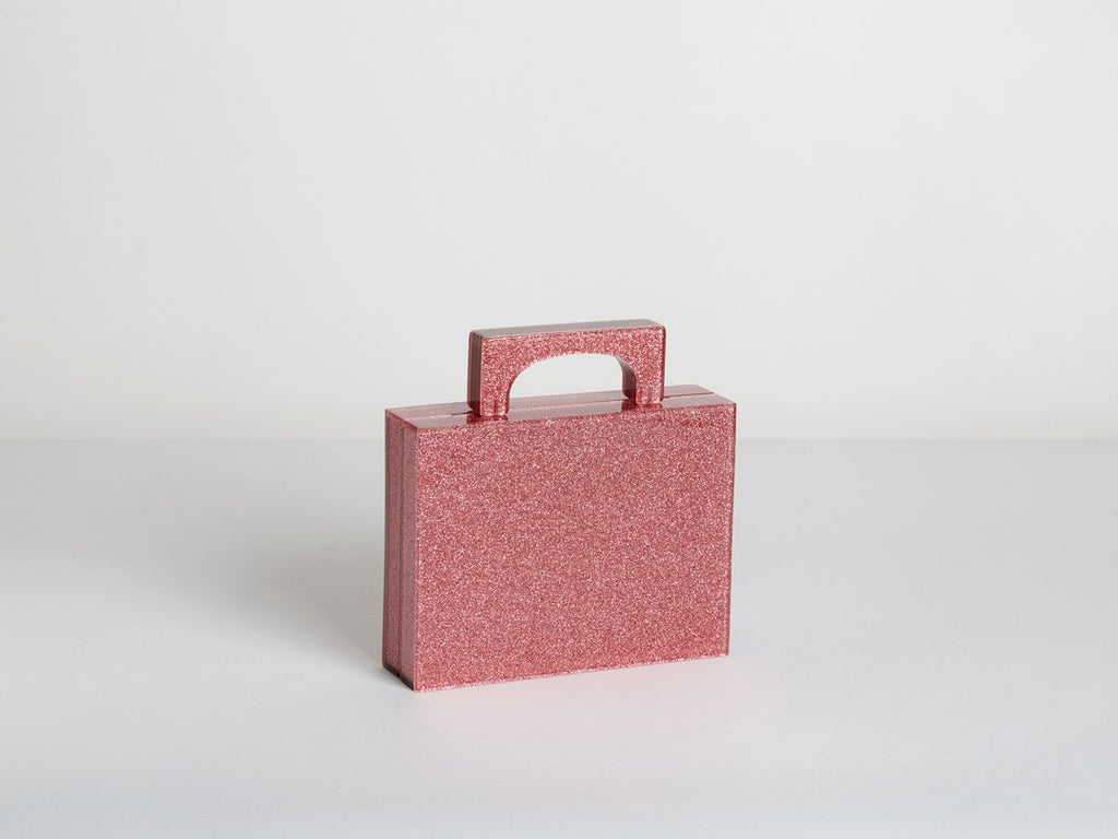 Bag Alexa Pink Glitter Resin