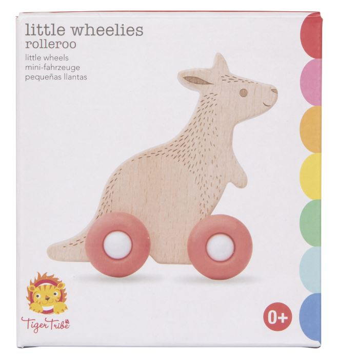 Wooden Rolling Toy - Little Wheelies Rolleroo