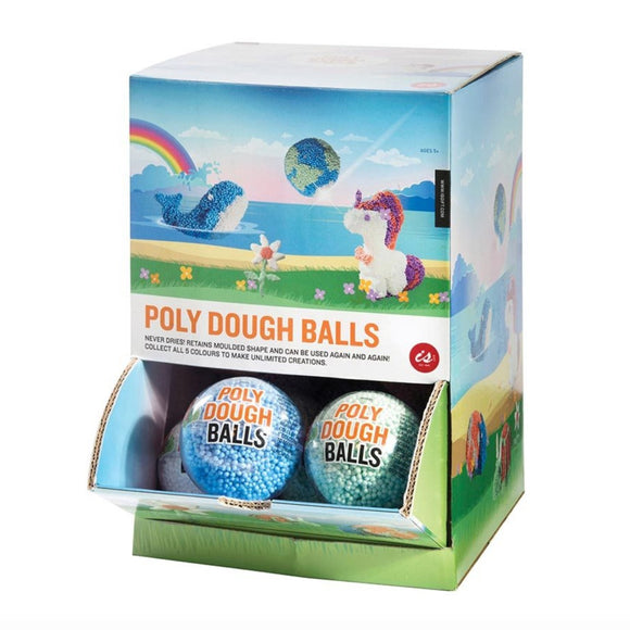 5 plastic spheres containbing pastel coloured moulding foam that is made from Poly Foam.