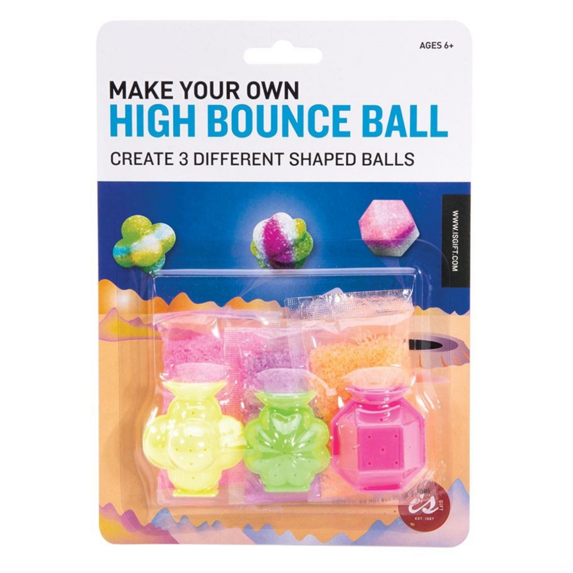 Make Your Own High Bounce Ball Packaging featuring the moulds and a visualisation of the final product