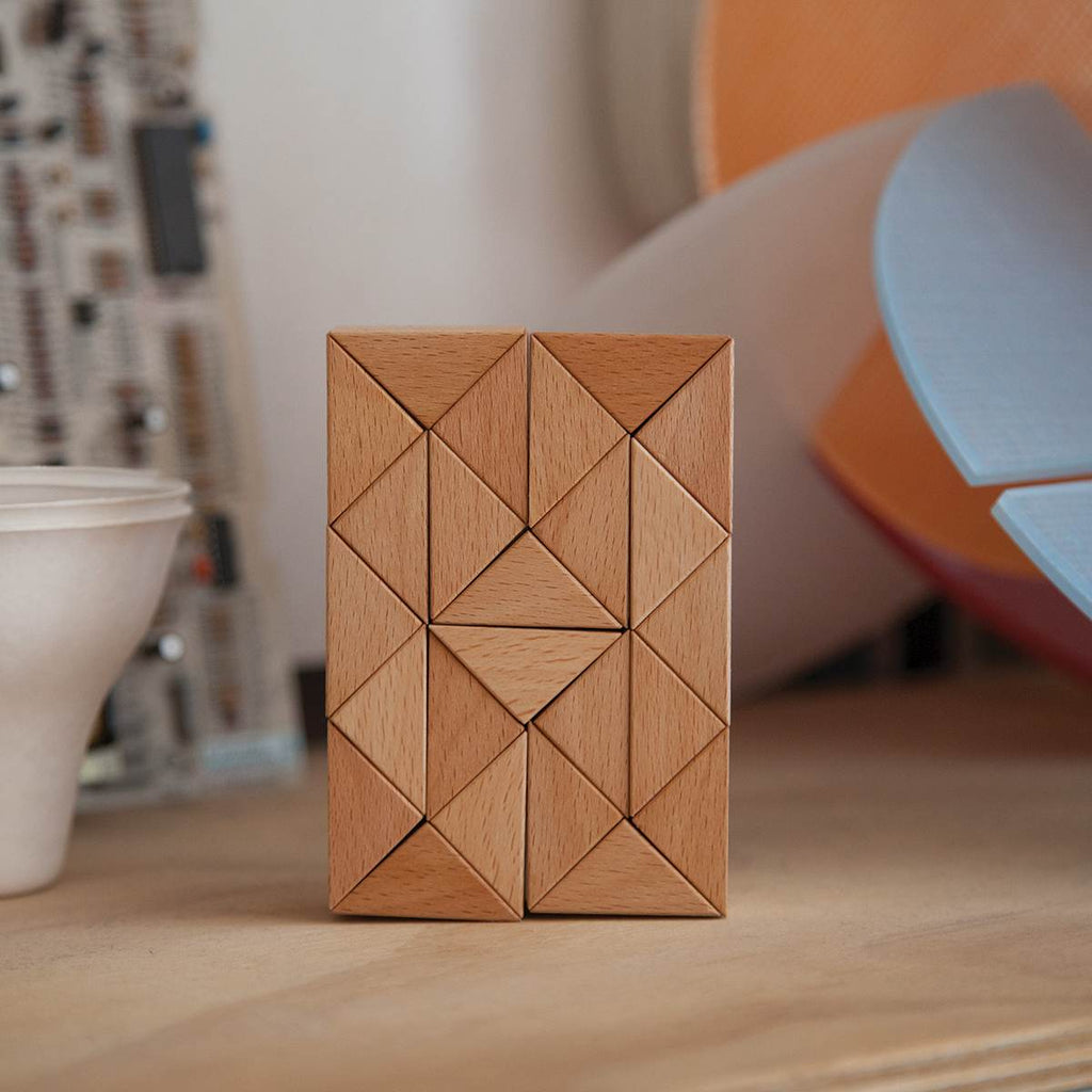 Wooden Blocks | Small Snake | Natural Wood