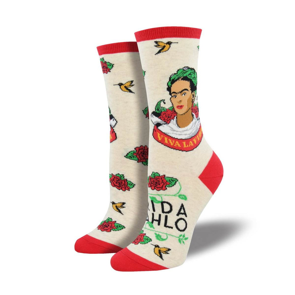 Socks | Viva La Frida Cream | Size 9 - 11
