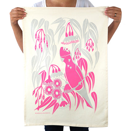 Tea Towel Rosea Gum Galah x Earth Greetings